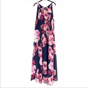 INC Floral Chiffon Maxi Dress